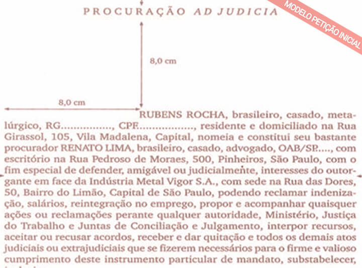 modelo de procuração ad judicia