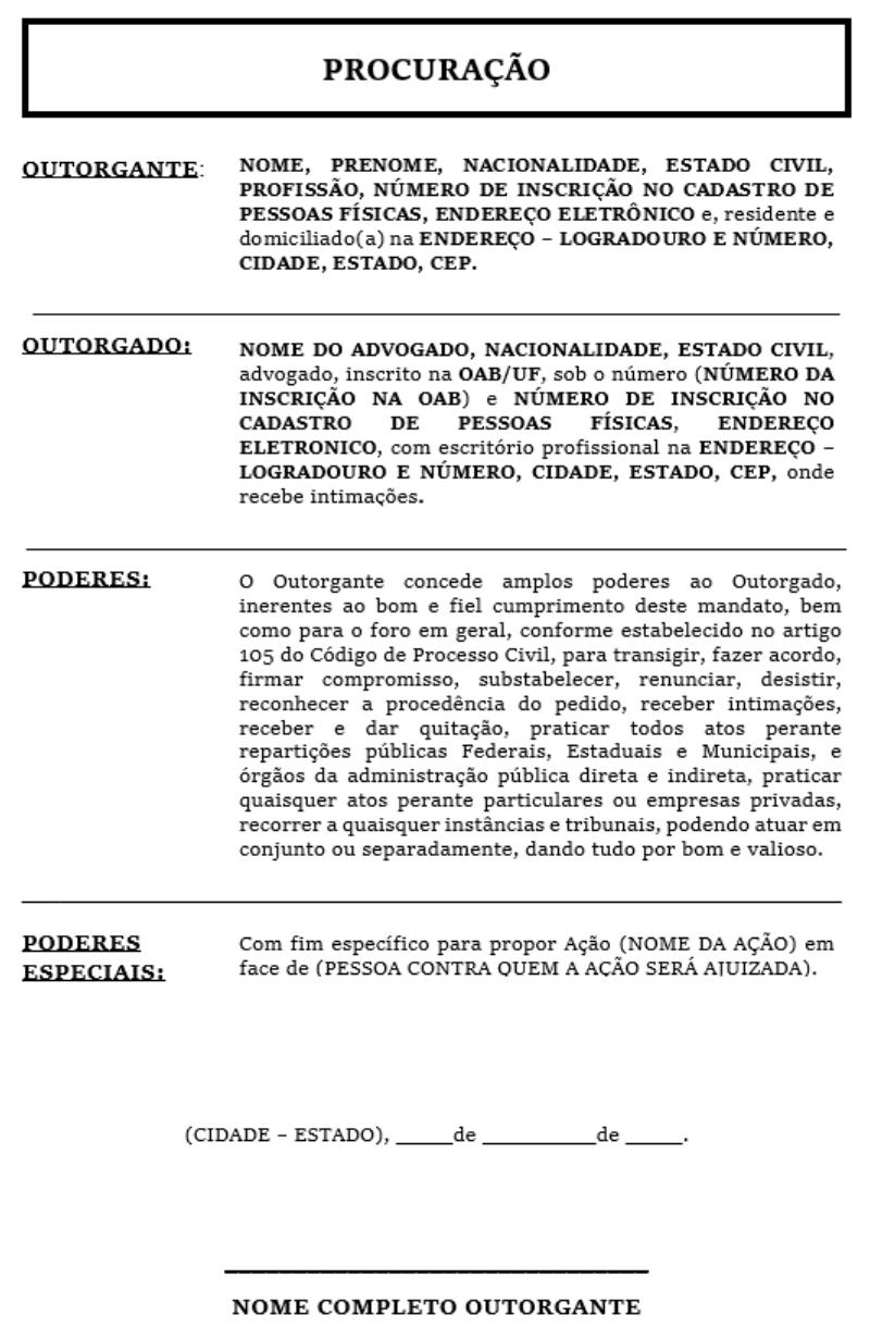 Modelo de Petição Ad Judicia