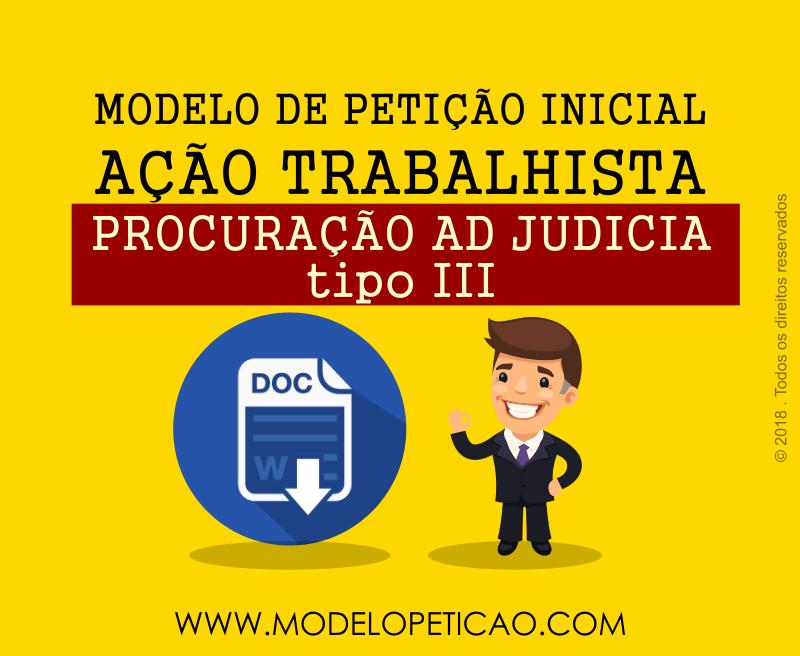Modelo de Procuração Ad Judicia III